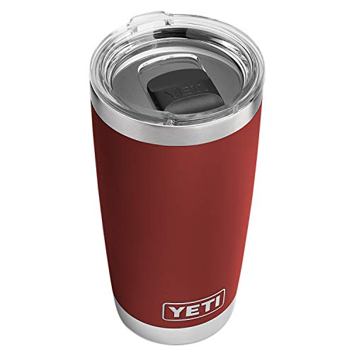 YETI E Rambler 20Oz Brick Red with Ms, 1
