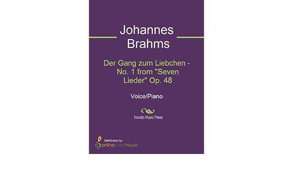 Der Gang zum Liebchen - No. 1 from Seven Lieder Op. 48