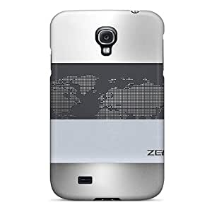 Protection Case For Galaxy S4 / Case Cover For Galaxy(worldmap Metallic)