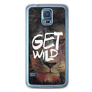 Inspirational Samsung Galaxy S5 Transparent Edge Case - get Wild