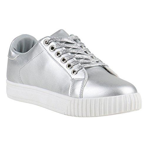 Bottes Femmes Paradis Plateau Sneaker Argent M