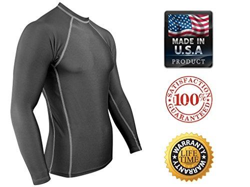 Rash Guard For BJJ No Gi Brazilian Jiu Jitsu Rolling Shirt With, Made In The USA!.