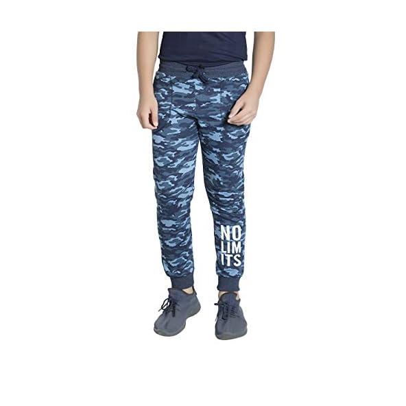 Alan Jones Clothing Boys Military Camouflage Cotton Joggers Track Pant