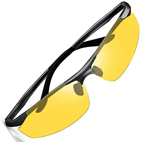 HD Night Vision Glasses For Driving,Polarized Sunglasses Anti Glare Safe Night Driving Glasses ()