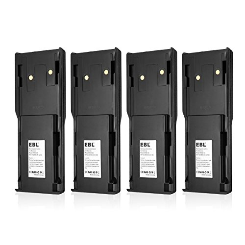 EBL 4 Pack HNN8148, HNN8148A Two-Way Radio Battery for Motorola P110, P-110 Radius 7.2V 2500mAh Ni-MH Rechargeable Battery (Radius P110 Two Way Radio)