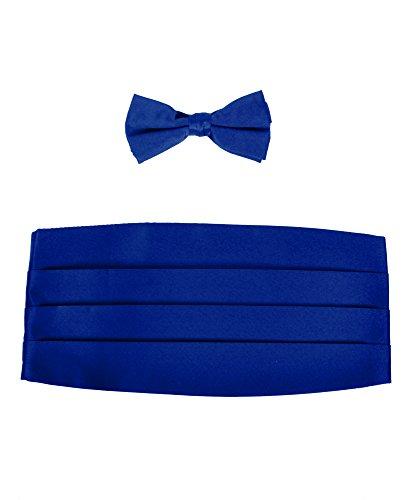Satin Cummerbund (Boy's Solid Poly Satin - Bow Tie and Cummerbund Sets , Blue)