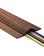 UT Wire 15FT Cable Blanket High Capacity Low Profile Cord Cover and Wire Protector - Brown