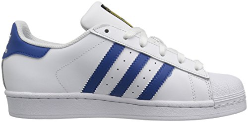 adidas Originals Kinder Superstar Sneaker (großes Kind / kleines Kind / Kleinkind / Kleinkind) Weiß / Eqt Blau / Eqt Blau