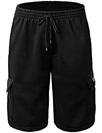 "<span class=""a-offscreen"">[Sponsored]</span>Men's Fleece Cargo Shorts Dream USA"