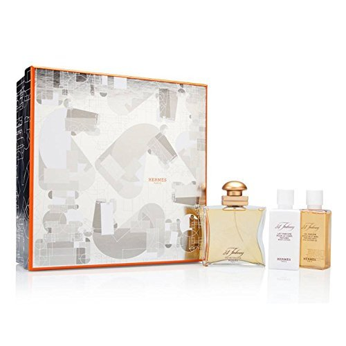 24 Faubourg by Hermes for Women 3 Piece Set Includes: 1.6 oz Eau de Toilette Spray + 1.35 oz Perfumed Body Lotion + 1.35 oz Perfumed Shower Cream by ()