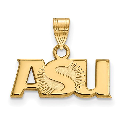 10k Yellow Gold Arizona State University Sun Devils School ASU Letters Pendant S - (8 mm x 18 mm) ()