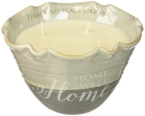 Pavilion Gift Company 86211 Plain Love Lives Here - Home Sweet Home 4 Wick Ceramic Tranquility Scented - Plains Hours White Mall