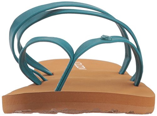 Thong Breezy Jesus Sandal Teal Women's Synthetic Flat Volcom Leather Easy qwHR1vI