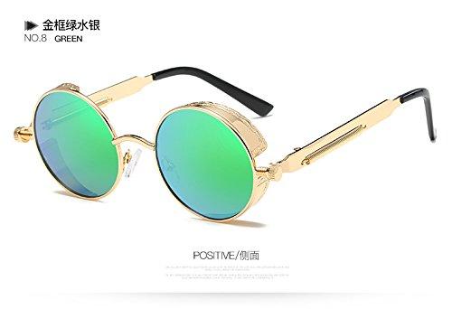 El 58028C8 Gafas Metal Desde Espejo 58028C6 Sol Steampunk Gafas De Mujer Círculo Gótico Hombre Gafas TIANLIANG04 De Sol Rotonda De De Oro Del Vintage De 7HwSq8P
