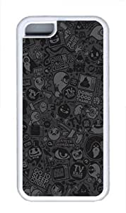 iPhone 5C Case Cover - Tv Vector Art TPU Back Case for Apple iPhone 5C - White