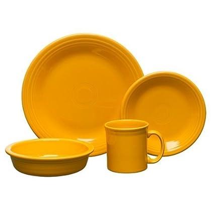 Amazon.com | Fiesta 4-Piece Place Setting with Java Mug, Marigold ...