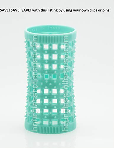 Hourglass Rollers (Aqua (1.26in/32mm) - Pack of 12 Rollers)