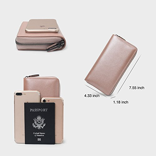 36 Credit Card Holder Wallet Leather RFID Women Card Case Organizer Purse (Rose Gold) by Bveyzi (Image #3)