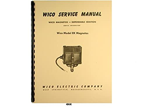 wico service parts manual for type ek magneto wico magnetos rh amazon com VW Coil Wiring with Points 1992 Yamaha G9 Wiring Schematic