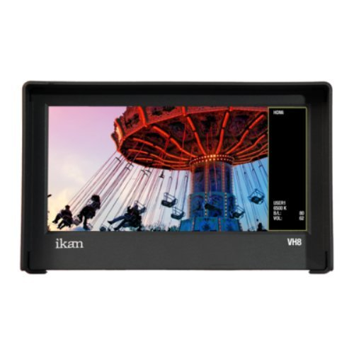 (Ikan VH8-E6 8-Inch HDMI Monitor with HD Panel with Canon LP-E6 DV Battery Plate (Black))