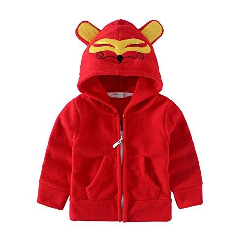 Adorable Kids Fleece Animal Costume Hoodies 6T Red Fox (Red Dinosaur Costume)