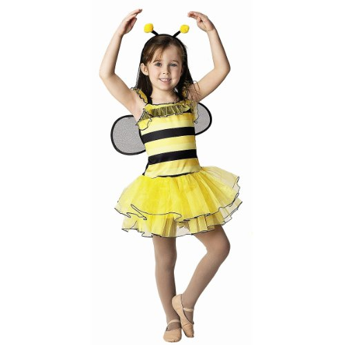 Get Real Gear Bee with Detachable Wings and Headband, Size 4/6 (Halloween Bumble Bee Costume)