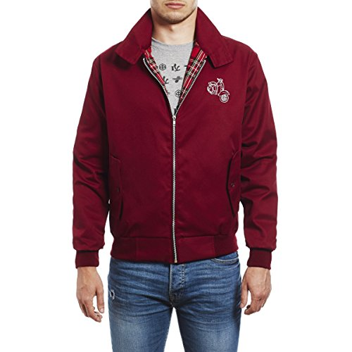 Bordeaux Uomo Giacca Soul Harrington Vespa Northern Scooter Ricamata 45revs Da zSYxq