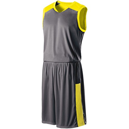 Holloway Ladies Reversible Nuclear Jersey (Small, Bright Yellow/Carbon) by Holloway
