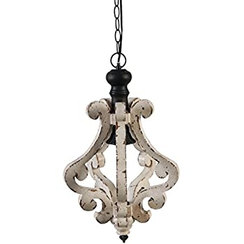 Image of A&B Home Perth Wooden Chandelier, 12.6 X 20.9-Inch Home and Kitchen