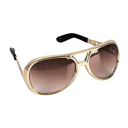 Kicko Rock Star Sunglasses with Brown Lenses - 6 Pack Celebrity Style Unisex UV Protected Aviators - Gift, Costume Props, Party Favors, Class Rewards, Getaway Accessories for Teens and Adults Alike ()