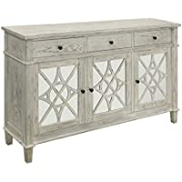 Treasure Trove 17254 Drawer Three Door Credenza, White