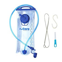 PerCare PEVA Transparent Hydration Bladder 2 Liter Water Reservoir 3L Leak Proof Water Bladder, Replacement Reservoir Fits Most Hydration Packs
