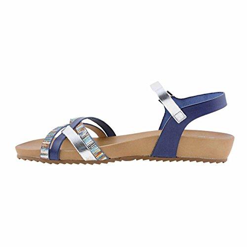 Sandalias Natural Mujer PORRONET 2324 Azul