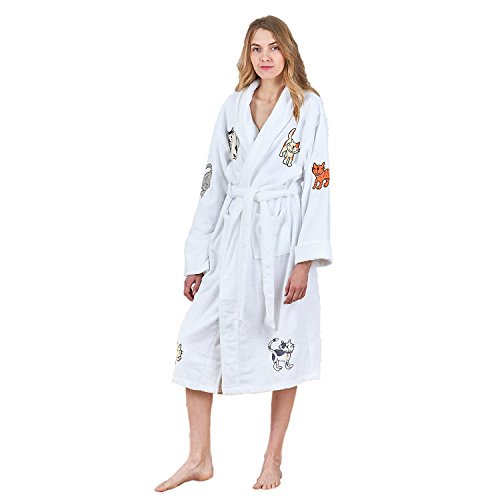 Anna king Women's Terry Towelling Bathrobes, 100% Cotton Luxury Dressing Gown Kimono Loungewear