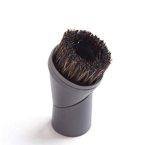 (EZ SPARES Vacuum Cleaner Universal Horsehair Dust Small Mini Floor Brush Cleaning Rotating Brush Accepting Replacement for All Brands Like Miele 07132710)