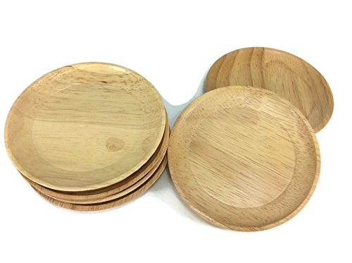 Coaster Austin Storage (Coasters Wood Round Circle Shape Saucers Handmade Wood Holders Thin Cup Holder 6)
