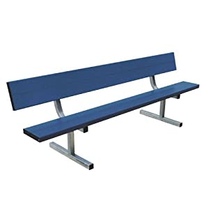21' Portable Bench w/back (colored) (EA) by BSN Sports