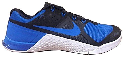 Nike Mens Metcon 2 Synthetic Black/Royal Blue/Royal Blue Trainers - 7.5 D(M) US, negro, 40.5 D(M) EU/6.5 D(M) UK