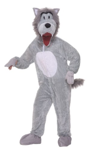[Forum Novelties Men's Storybook Big Bad Wolf Plush Mascot Costume, Gray, Standard] (Little Big Planet Funny Costumes)