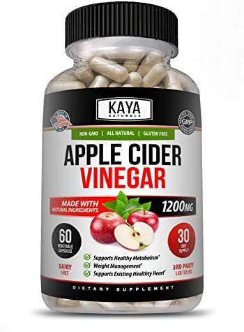 Kaya Naturals Apple Cider Vinegar Pills, 120 Count Capsules for Fast Weight Loss, Cleanse, Appetite Suppressant, Bloating Relief, Non-GMO and Gluten Free (120 Capsules) 1