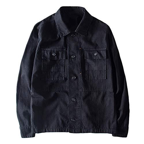 - Shirts for Men, Simayixx Men's Casual Military Canvas Jacket Fit Raglan Autumn Winter Pleats Button Blouse