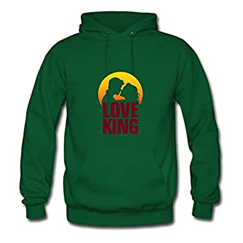 Women Love King 2 (dd)++ Green Customizable Comfortable Off-the-record Hoodies Shirts X-large