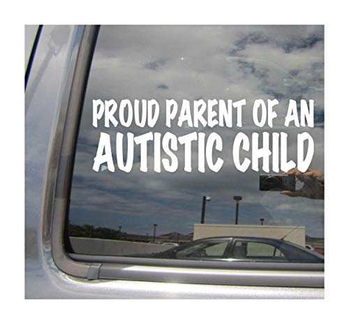 Right Now Decals Proud Parents of an Autistic Child - Saying Quote Autism Cars Trucks Moped Helmet Hard Hat Auto Automotive Craft Laptop Vinyl Decal Store Window Wall Sticker 10058