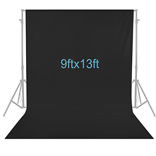 Neewer 9 x 13 feet/2.8 x 4 Meters Photography Background Photo Video Studio Fabric Backdrop Background Screen (Black)