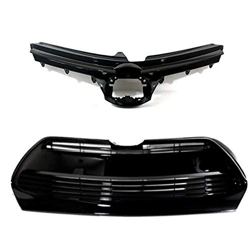 Front Grille Combo for Toyota Corolla | 2017 2018 2019 LE XLE CE | Upper and Lower Grill Replacement | by JX Accessories