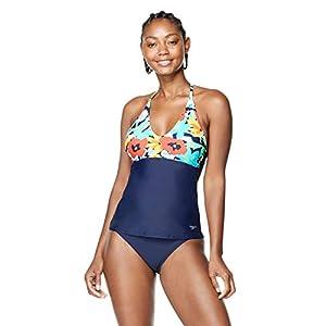 Speedo Women's Swimsuit Top Tankini V-Neck Halter