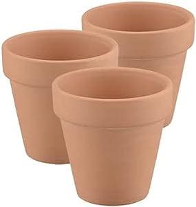Mini Clay Pots - 3pc, Tiny Terracotta Pots Succulent Small Pot 2.5