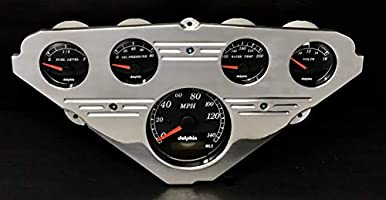 Dolphin Gauges 1955 1956 1957 1958 1959 Chevy Truck 5 GPS Gauge Dash Cluster Panel Set Black