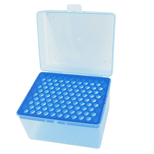 uxcell Laboratory 100 Positions 1mL Rectangular Pipette Pipettor Tip (Pipette Rack)