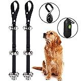 Dog Doorbells for Potty Training - Folksmate 2 Pack Potty Bells with 7 Extra Loud Bells Adjustable for Dog Training, Housebreaking …